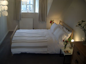 One of the bedrooms at Marie Cottage Gullane